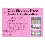 Partido de aniversário de 21 anos do slot machine convite personalizado