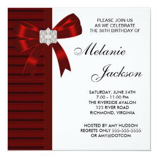 Partido de aniversário de 30 anos da mulher convite quadrado 13.35 x 13.35cm
