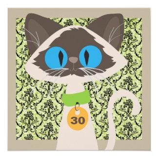 Partido de aniversário de 30 anos engraçado do convite quadrado 13.35 x 13.35cm