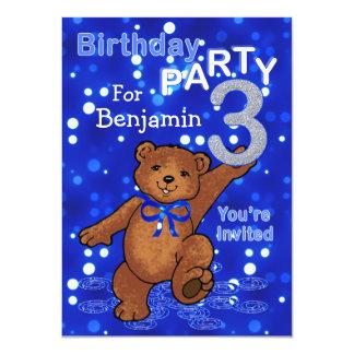 Partido de aniversário de 3 anos de dança dos