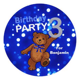 Partido de aniversário de 3 anos do urso de