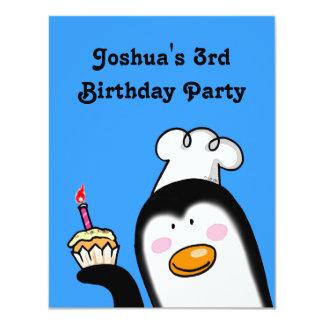 Partido de aniversário de 3 anos personalizado convites