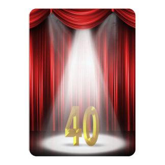 Partido de aniversário de 40 anos convite 11.30 x 15.87cm