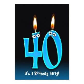 Partido de aniversário de 40 anos convite personalizados