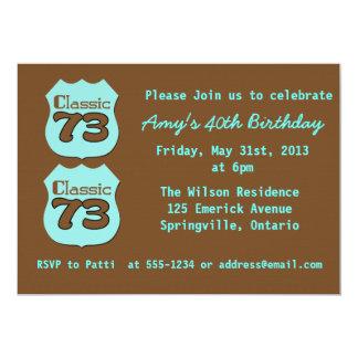 Partido de aniversário de 40 anos convite 12.7 x 17.78cm