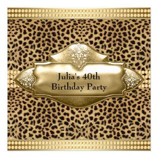 Partido de aniversário de 40 anos da mulher do leo convite personalizado