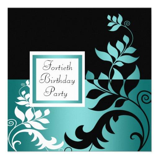 Partido de aniversário de 40 anos da mulher negra  convites personalizados