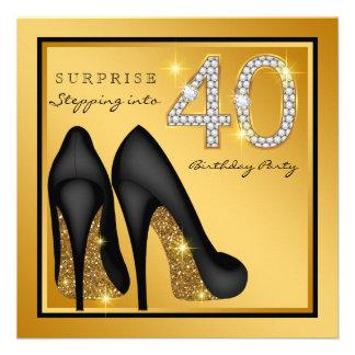 Partido de aniversário de 40 anos da surpresa da convites personalizados