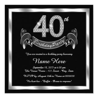 Convites Partido De Aniversário 40 Anos Da Mulher ...
