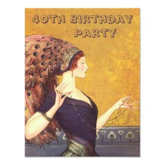 Partido de aniversário de 40 anos do Flapper do Convites Personalizados