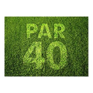 Partido de aniversário de 40 anos do golfe convite 12.7 x 17.78cm