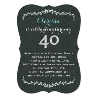 Partido de aniversário de 40 anos do louro do convite 12.7 x 17.78cm