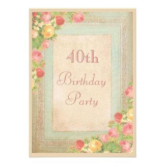 Partido de aniversário de 40 anos elegante dos ros