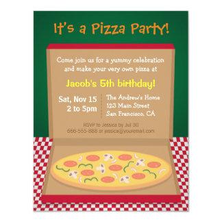 Partido de aniversário de criança colorido da convite 10.79 x 13.97cm
