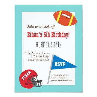 Partido de aniversário de criança do capacete de convite personalizado
