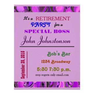 partido de aposentadoria convite personalizados