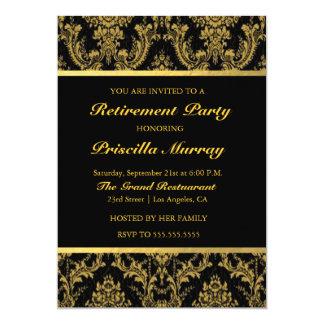 Partido de aposentadoria da mulher elegante de convite 12.7 x 17.78cm