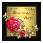 Partido de aposentadoria da mulher preta da rosa convite personalizado