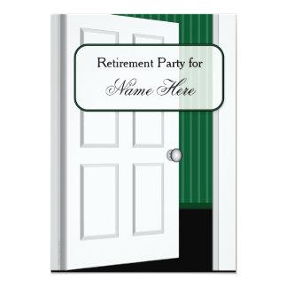 Partido de aposentadoria do estar aberto convite 12.7 x 17.78cm