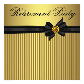 Partido de aposentadoria elegante da mulher do convite quadrado 13.35 x 13.35cm