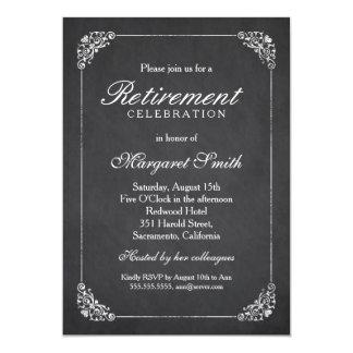 Partido de aposentadoria elegante do quadro do convite 12.7 x 17.78cm