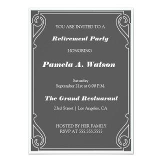 Partido de aposentadoria elegante do vintage convites personalizado