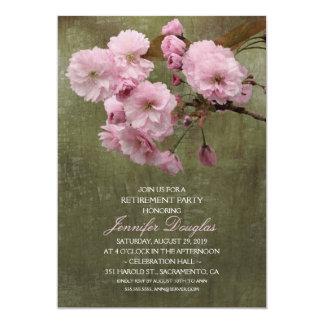 Partido de aposentadoria floral da flor de convite 12.7 x 17.78cm