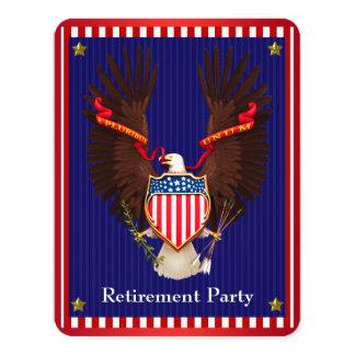 Partido de aposentadoria militar convite 10.79 x 13.97cm