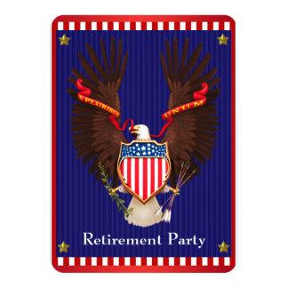 Partido de aposentadoria militar patriótico convite 11.30 x 15.87cm