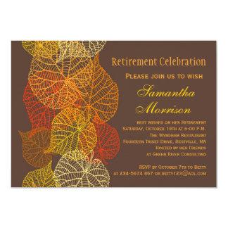 Partido de aposentadoria outonal dourado das convite personalizados