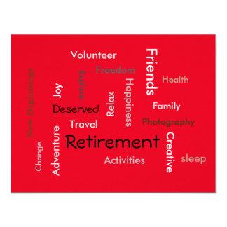 Partido de aposentadoria: (personalize convites