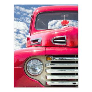 Partido de aposentadoria retro do caminhão convite personalizado