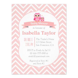 Partido de chá cor-de-rosa elegante do bebé da convites