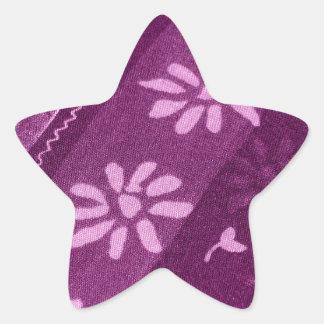 Partido de chá cor-de-rosa roxo das videiras das adesito estrela