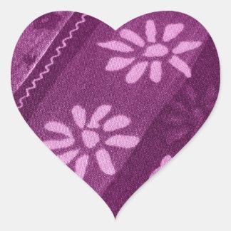 Partido de chá cor-de-rosa roxo das videiras das adesivos em forma de corações