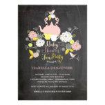 Partido de chá de fraldas floral das flores & dos