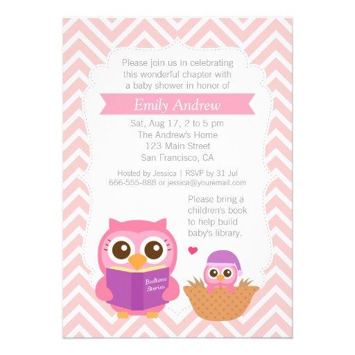 Partido de chá de fraldas temático da coruja do convite personalizado