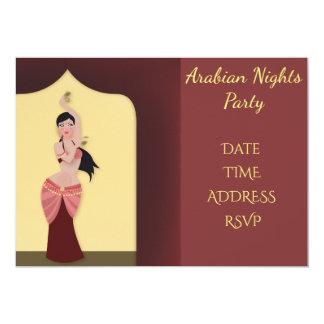 Partido de dança da barriga das noites de Arábia Convite 12.7 X 17.78cm