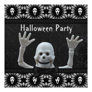 Partido de esqueleto feliz do Dia das Bruxas do Convite Quadrado 13.35 X 13.35cm