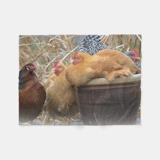 Partido de galinha cobertor de velo