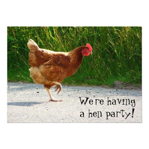 Partido de galinha! Convide para a celebração do b Convite Personalizado