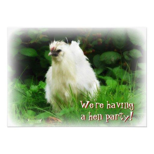 Partido de galinha! Convide para a celebração do b Convite