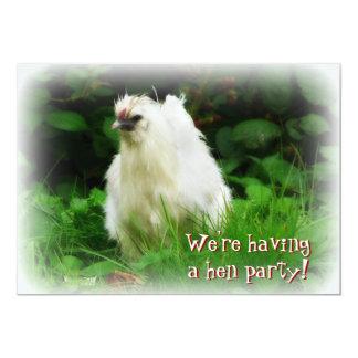 Partido de galinha! Convide para a celebração do Convite 12.7 X 17.78cm