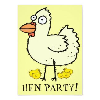 Partido de galinha! Os pintinhos e as galinhas Convite 12.7 X 17.78cm