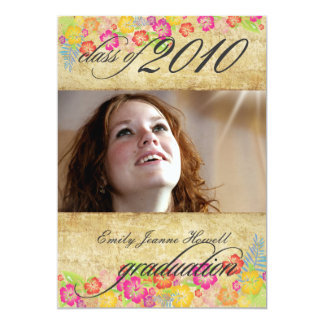 Partido de graduações tropical das flores do convites personalizados