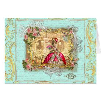 Partido de Marie Antoinette no cartão de Versalhes
