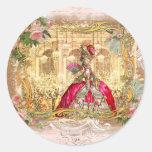 Partido de Marie Antoinette no rosa em Versalhes Adesivo Redondo