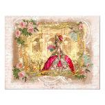 Partido de Marie Antoinette no rosa em Versalhes Convite