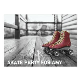 Partido de patinagem, skate de rolo, convite da