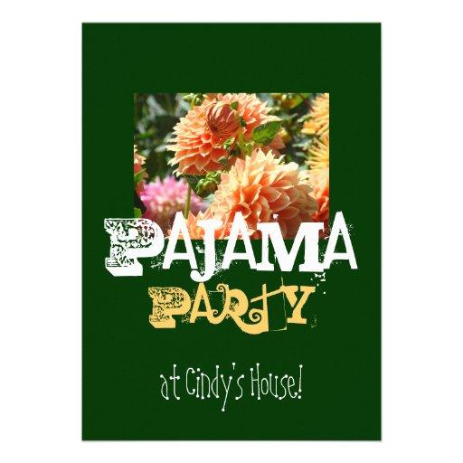 Partido de pijama em sua casa conhecida! Convites
